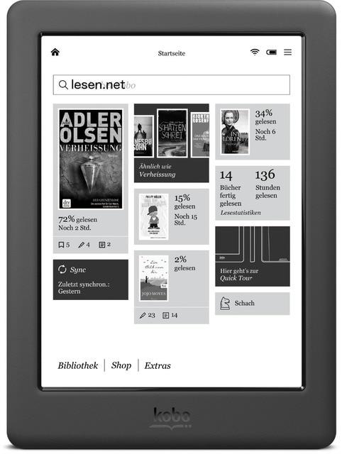 300ppi Kobo Glo HD libro electrónico e-tinta de 6 pulgadas eBook Ereader N437 pantalla HD 1448x1072 e -libros Reader 4 GB WIFI