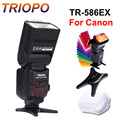 Triopo tr-586ex c ttl de flash inalámbrico speedlite para canon 5d3 7d 6d 600d 650d dslr cámaras como yongnuo 565ex 560iii ii 560iv 568ex