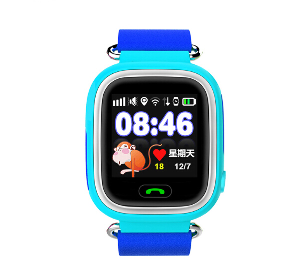SALE Blue GPS Watch GPS/GSM Tracker Watch For Kids Children Smart 1.22 Touch Screen Watch SOS GSM Phone Android&IOS Anti Lost 1 2 inch android ios children smart watch phone s866 bluetooth sim gsm wifi lbs sos gps real time positioning tracker for kids