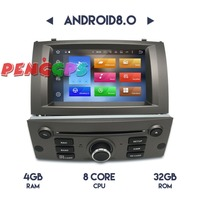 Android8.0 7.1 Car Radio Stereo GPS Headunit for PEUGEOT 407 2004 2005 2006 2007 2008 2009 2010 Car DVD Player Audio Video Auto