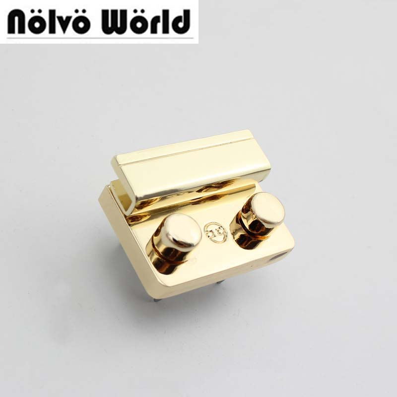 10pcs 45*35mm trendy lock DIY standard locks thumb lock handmadebags metal new fashion push locks