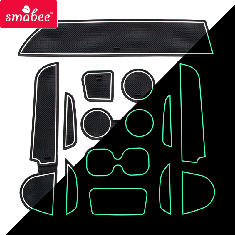 Smabee Gate Slot Pad For Mitsubishi Mirage 2012-2018 Accessories,3D Rubber Car Mat Red/blue/white 10PCS