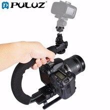 PULUZ for steadycam U Grip C shaped Handgrip Camera Stabilizer w h Tripod Head Phone Clamp