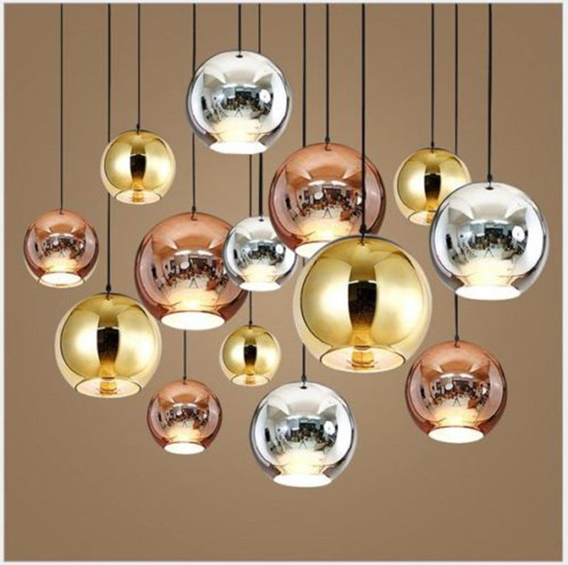 Mirror Glass Ball Pendant Lamp Dixon Chandelier Ceiling Light Fixture New Chrome For Dinning Room Home Decor PA0270|light fixtures|ball pendant lamp|pendant lamp - title=