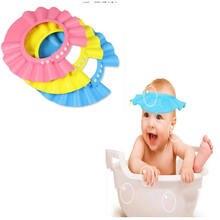 Baby Shower Cap Регулируемая Ребенка Регулировать Шампунь Душ Купание Ванна Защитите Soft Cap Детские Душ Аксессуар