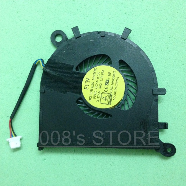 Original New Laptop CPU Cooling Fan Fit For Dell XPS 13 9343 FORCECON DFS150505000T FFH0 5V 0.5A DP/N XHT5V 0XHT5V DC28000F2F0