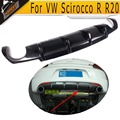 For Scirocco Carbon fiber car rear diffuser For VW Scirocco R R20 Bumper rear lip 2009 - 2013