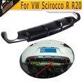 Para Scirocco fibra De Carbono difusor traseiro do carro Para VW Scirocco R R20 Bumper lábio traseiro 2009-2013