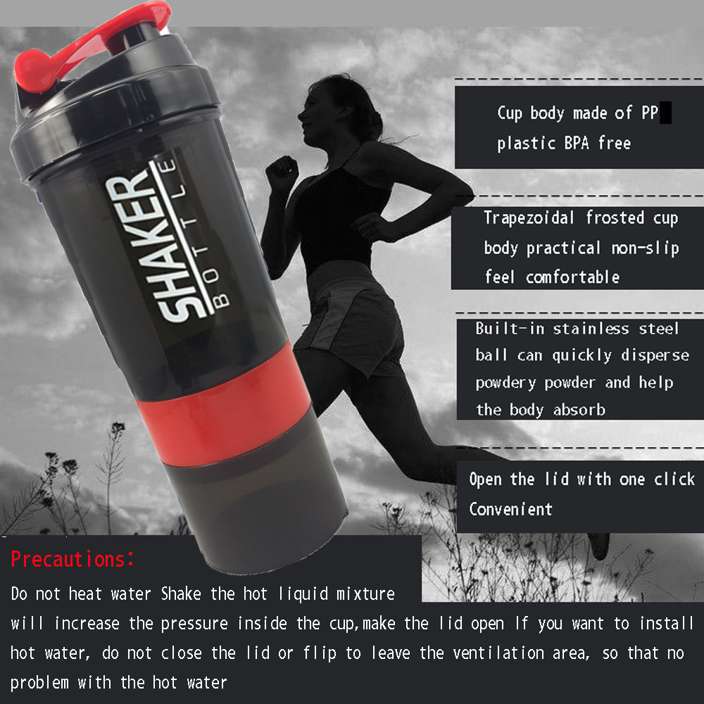 Image 5 - Creative Protein Powder Shaker Bottle Sports Fitness Mixing Whey Protein Water Bottle Sports Shaker for Gym Powerful Leakproof-in Water Bottles from Home & Garden
