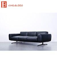 Современный Топ серый последний угол реального кожаный диван дизайн гостиной диван