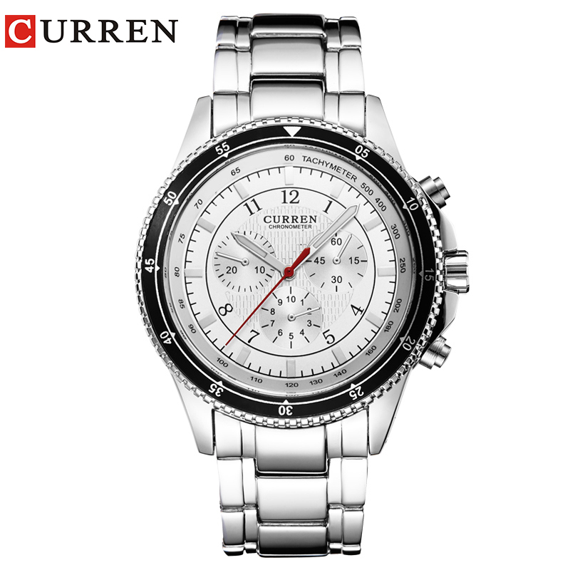 HOT Curren Watches Men Luxury Brand Military Watch  Wristwatch Fashion Casual Water Resistant Army Sports Quartz Watch8055 weide new men quartz casual watch army military sports watch waterproof back light men watches alarm clock multiple time zone