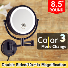 Wall Mounted Extending Folding Round Two Side3X/5X/7X/10X Magnification Bathroom men shaving Mirror Lady Makeup Cosmetic