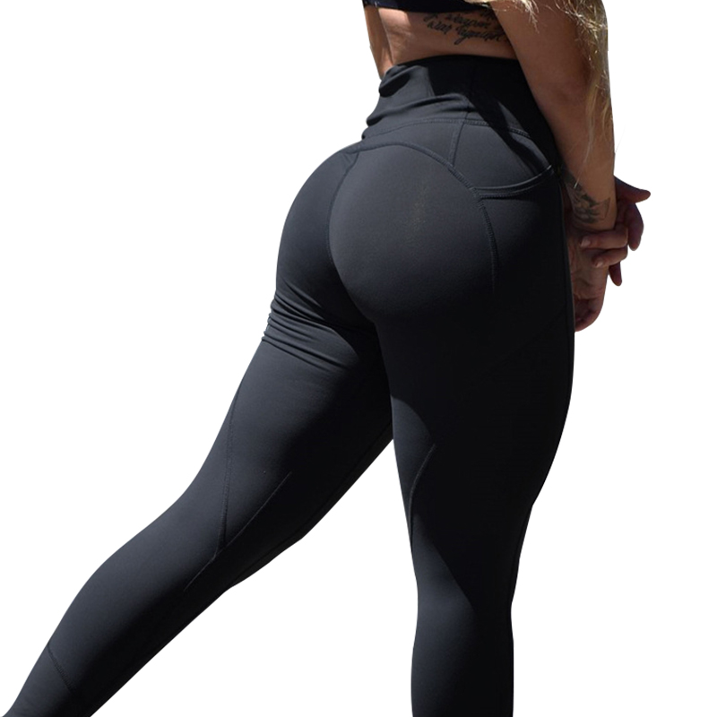 Frauen Hohe Taille Leggings Push-Up-Leggings Workout Leggings Weibliche Patchwork Sportswear Jeggings Leggings Femme