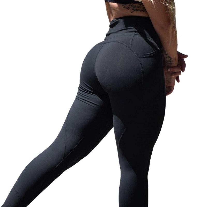 Mujeres de alta cintura Leggings Push Up Leggings entrenamiento Leggings Mujer Patchwork Sportswear Jeggings Leggings Mujer