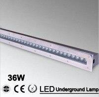 3 pçs/lote 36w iluminação subterrânea branco quente/rgb/led deck lâmpadas de assoalho ao ar livre ip68 à prova dip68 água AC85-265V/12 v luminária exterieur