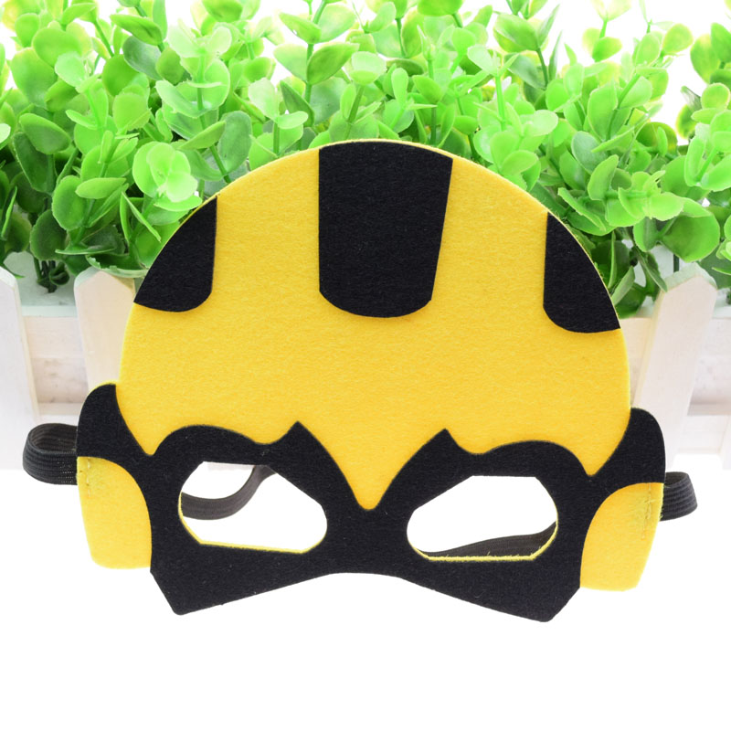 Mask Animal bee Super Hero Glasses Cute Mask Kids Baby Boy Girl Costume Star Wars Christmas Avengers Masquerade Eye Mask Cosplay