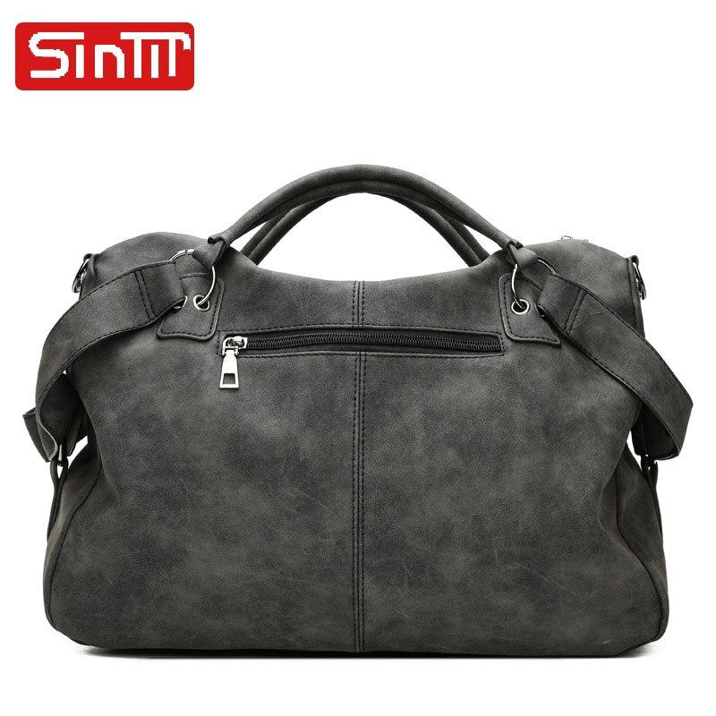 SINTIR Högkvalitativa Nubuck Läder Kvinnor Handväskor Mode Fur - Handväskor - Foto 3