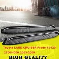 Car Running Boards Auto Side Step Bar Pedals For Toyota LAND CRUISER Prado FJ120 2700 4000