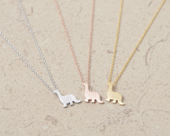 wholesale 2016 new and hot Fashion jewelry So cute and fun dinosaur necklace !for women 2colours selection free shipping