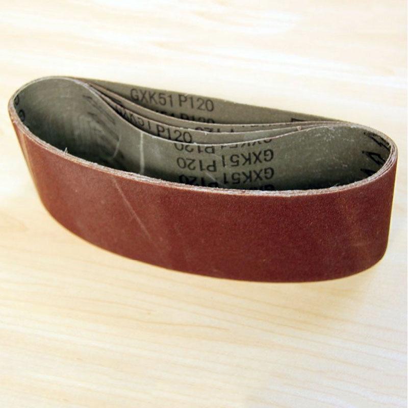 Cinturón de lijado de 5 piezas 75x533 mm Cinturones de arena de 3 - Herramientas abrasivas - foto 3