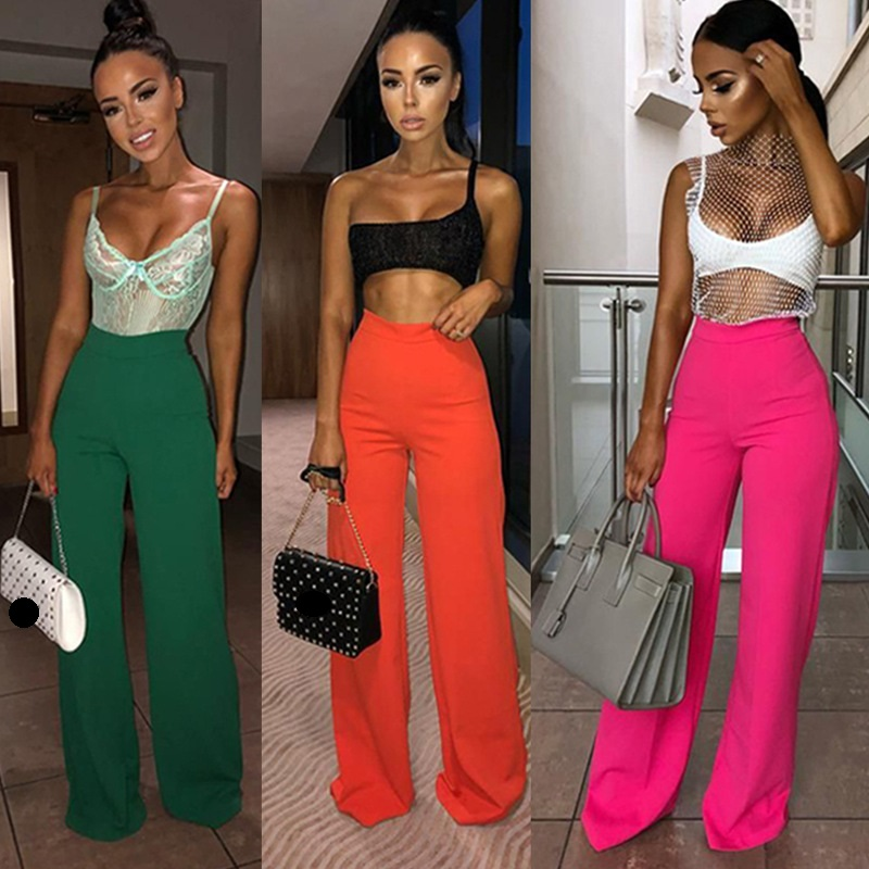 Women loose long high waist   wide     leg     pants   for women female lady long   pants   women's 2019 spring new S M L XL