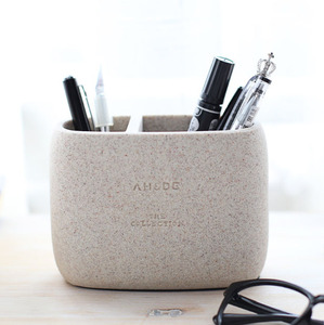 Image 3 - 1 Pcs High Quality Pen holder Office Organizer Cosmetic Pencil Pen Holders Resin Stationery Container Office Supplies