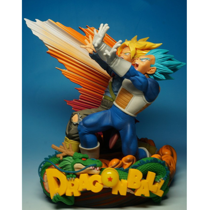 Anime Dragon Ball Z Vegeta Trunks Parent-child Shock Wave Resin Statue Action Figure Model Decoration G2401Anime Dragon Ball Z Vegeta Trunks Parent-child Shock Wave Resin Statue Action Figure Model Decoration G2401