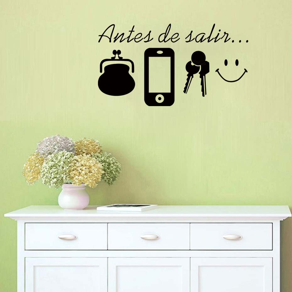 Spanish Quotes Before Leaving Reminder Wall Stickers Daily Vinyl ...