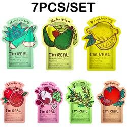 7 unids/lote soy REAL Tony moly mascarilla Facial hidratante Control de aceite Anti-envejecimiento máscara cosméticos