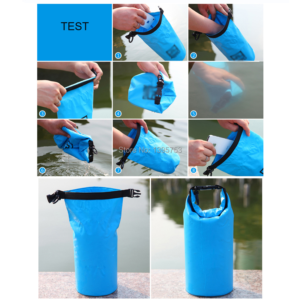 Egoelife 1 5l Portable Lightweight Waterproof Pouch Dry Bag Kayaking Canoeing Rafting Swimming Sack Blue In Travel Kits From Sports Entertainment On