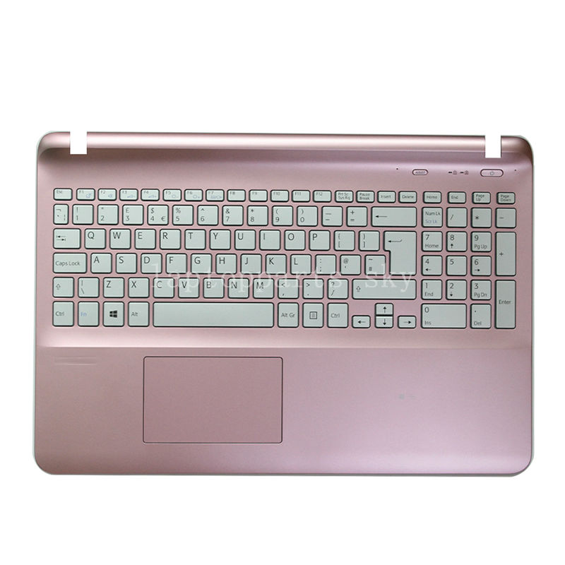 ФОТО New US English keyboard For Sony SVF15 SVF151 SVF152 SVF153 SVF1541 SVF15E pink cover with keyboard w/frame Palmrest Touch