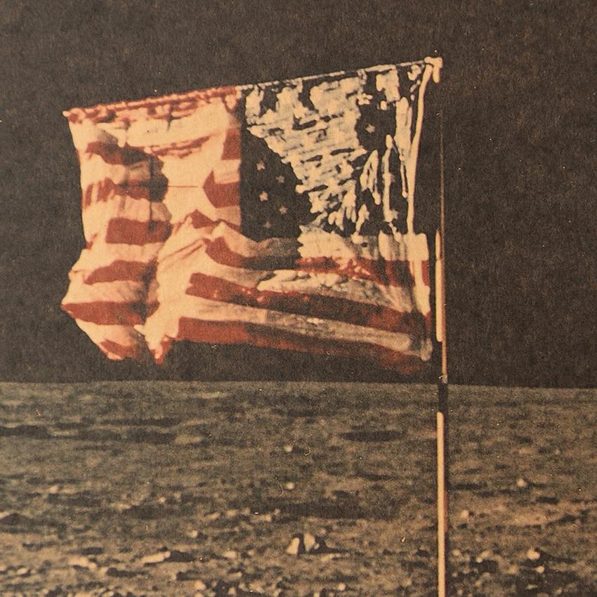 geekoplanet.com - Apollo 11 Moon Landing Vintage Kraft Paper Poster