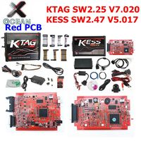 Online V2.47 EU Red Kess V5.017 OBD2 Manager Tuning Kit KTAG V7.020 4 LED Kess V2 5.017 BDM Frame K TAG 7.020 ECU Programmer