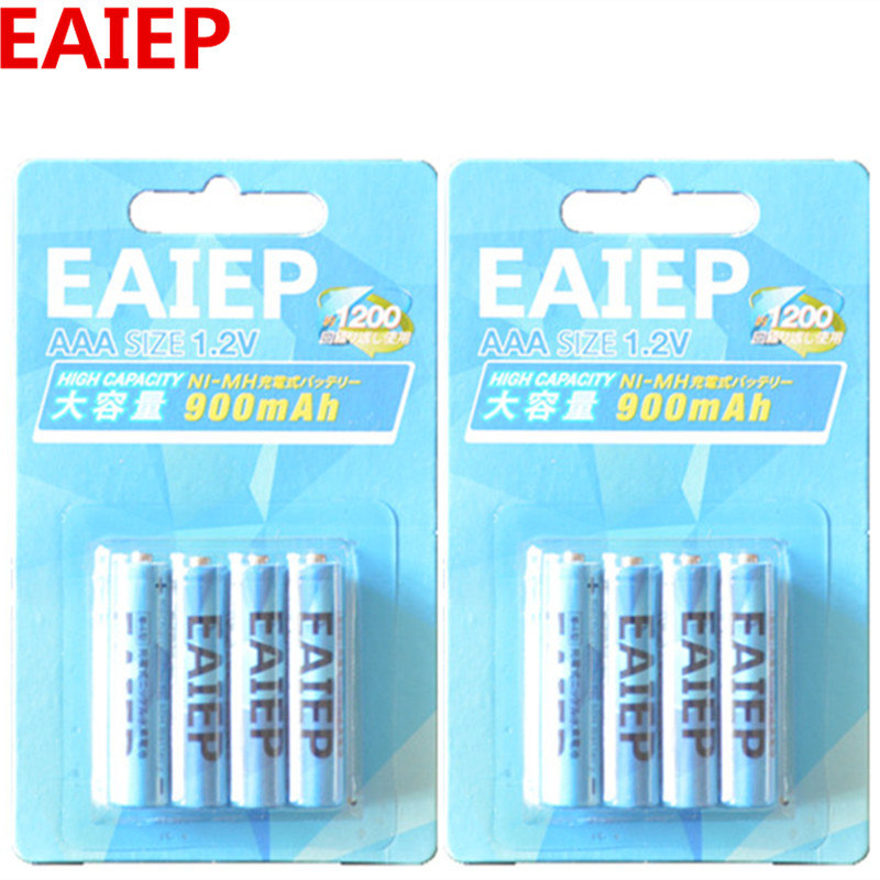 Rechargeable Battery Cell <font><b>Set</b></font> AAA (600mAh-900mAh)1.2V EAIEP NI-MH 3A Battery Baterias Bateria For LED light toy <font><b>mp3</b></font>