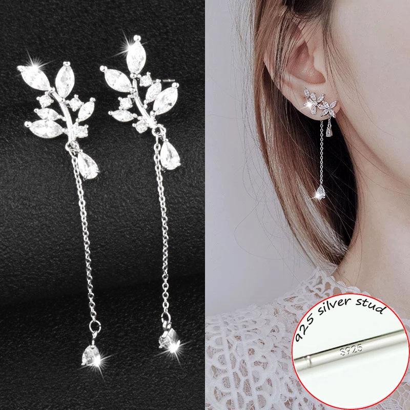 Jewelry & Accessories Earrings New 8 Colors Flower Long Tassel Earrings For Women Fashion Imitation Pearl Earrings Ear Line Elegant Wedding Party Jewelry Gift