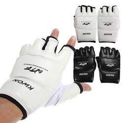 Наполовину пальцы, Детские/взрослые, наждачные боксерские перчатки, Санда/каратэ/Муай Тай/тхэквондо защита