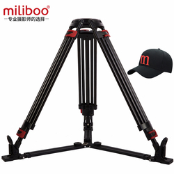 miliboo MTT609A without head Portable Aluminium Tripod for Professional Camcorder Video Camera/DSLR Stand Ground Extension