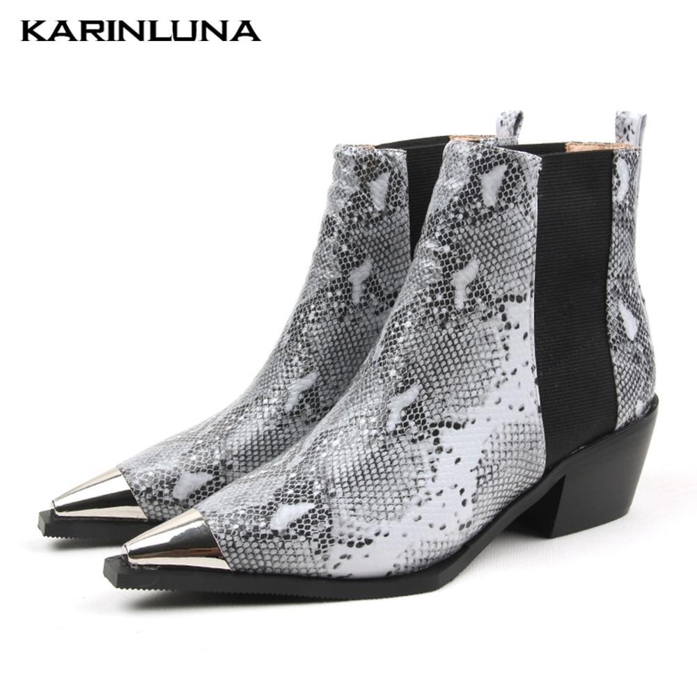 Marque Design Top qualité bottines femmes chaussures bande élastique talons Chunky chaussures de rue femme Chelsea bottes femme