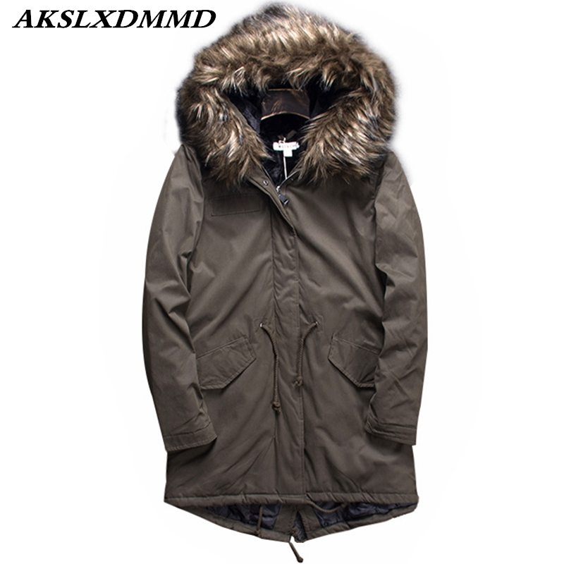 Women Autumn Winter Fashion 2019 New Cotton Coat Hooded Fur Collar   Parka   Long Coat Large Size Outerwear Warm Winter Jacket CW008
