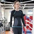 2016 Nuevas mujeres medias de manga larga t shirt gimnasio crossfit ejercicio culturismo ropa camiseta femme mujeres sexy tops