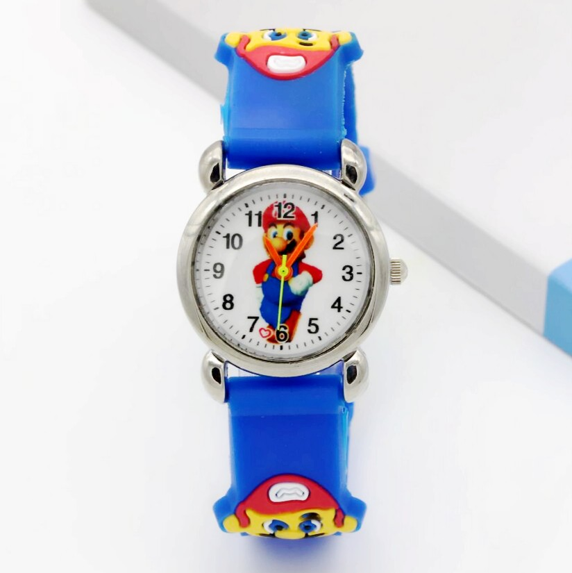 Relogio Feminino 2019  New Relojes Cartoon Children Super Mario Cartoon Watch 3D Quartz Children Kids Watch