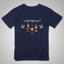 Geek It Is A Madman It Wing The It Crowd Diy Men's Short Sleeve T-shirt Cotton Round Collar Programmer