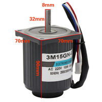 15W AC Electric Motor 220V High Speed 1400RPM 2800RPM Adjustable Speed Reversible With Motor Speed Controller For Lawn Mower