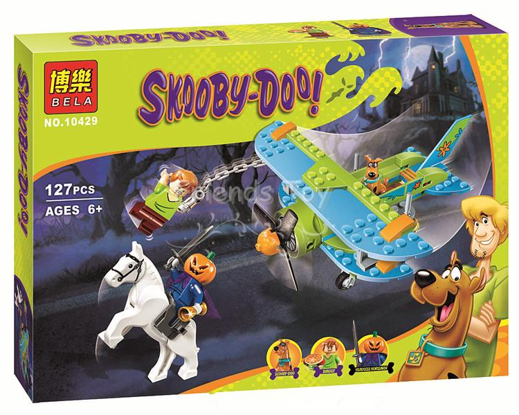 127pcs Mystery Plane Adventures Scooby-Doo Set Shaggy Headless Horseman Toys Bricks Blocks Compatible With Lego 75901 скуби ду лего