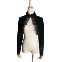 パンクレイブゴシック黒ショートジャケット、軍事女性ファッションヴィクトリkeraトップy413