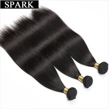 Spark Brazilian Straight Hair Bundles Natural Color 1/3/4PCS 100% Human Hair Weave Bundles 8-26inch Remy Hair Extensions(China)