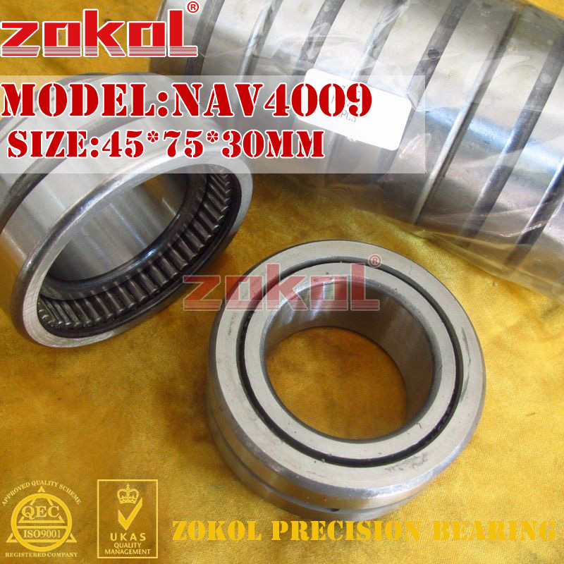 ZOKOL bearing NAV4009 Full bore needle roller bearing with inner ring 45*75*30mm куплю молоток клепальный ип 4009