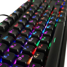 10 Styles Translucent Double Shot PBT 104 Keycaps Engllish/Russian Translucent Backlight Keycaps For Cherry MX Keyboard Switch