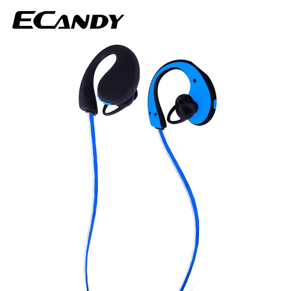 ECandy Sport Headphones Bluetooth V4.1 Noise Cancelling Headset Stereo Earbuds Earphones with Mic In-Ear Auriculares for iPhone