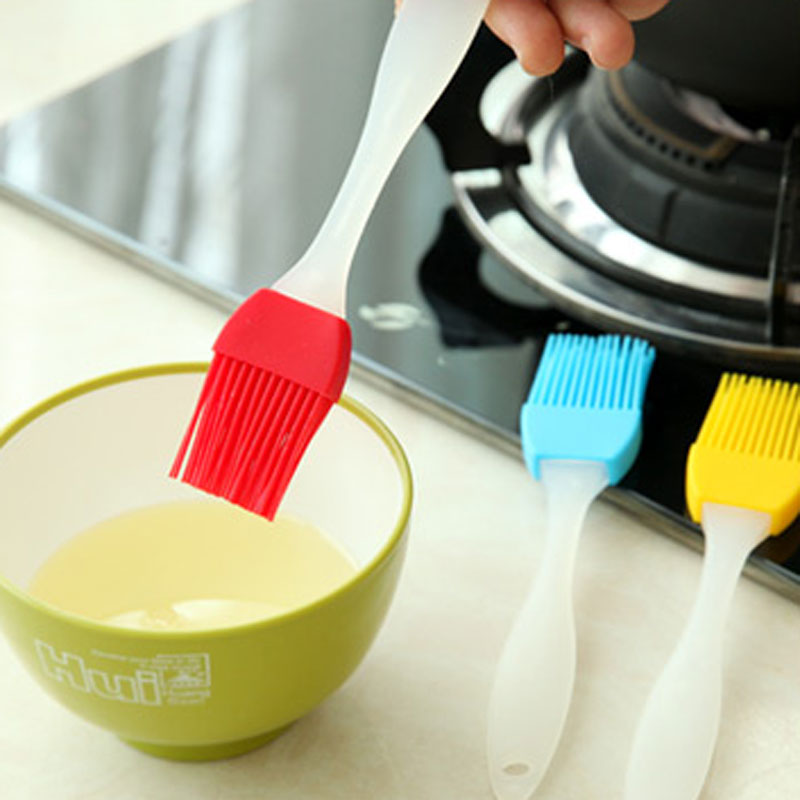 New Silicone Round Basting Brush Cake Butter Bread Pastry Brush Baking Tool